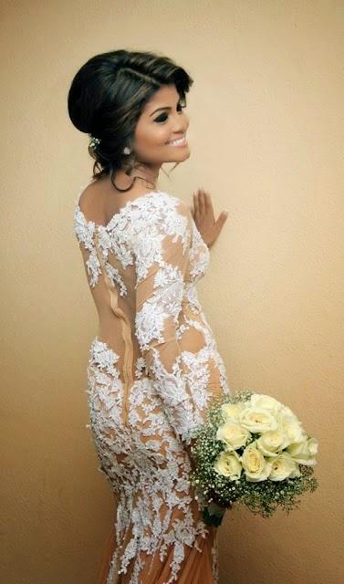 Bhagya Hettiarachchi wedding dress