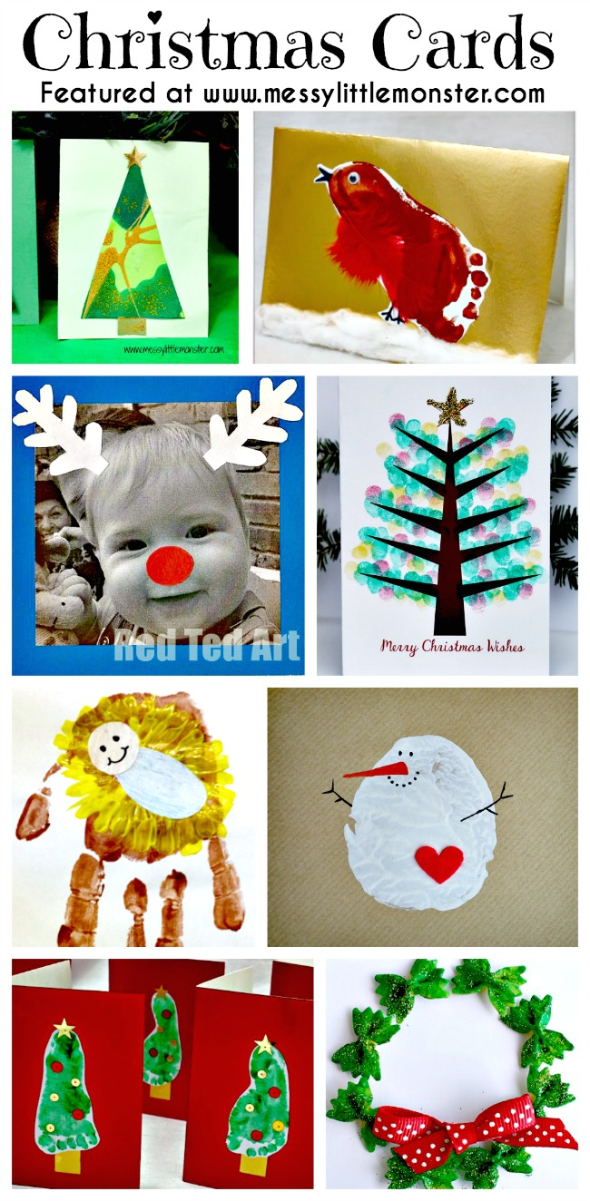 Christmas card ideas messy little monster for Christmas ideas for christmas cards