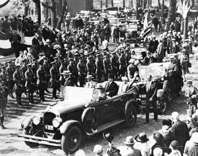 President Calvin Coolidge motorcade