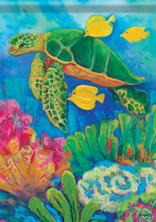 Sea Turtle Garden FLag