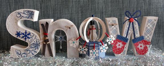 """""""SNOW"""" 3d Letter Box Ensemble"""