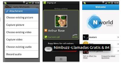 nimbuzz  Las 27 aplicaciones utiles para tu Android que deberías instalar