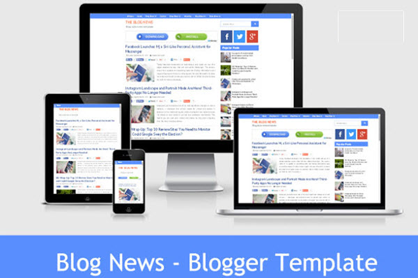 Blog News - Responsive and SEO Optimized Blogger Templates