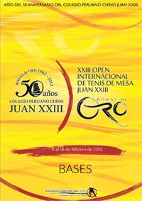 Open Juan XXIII Lima 2012