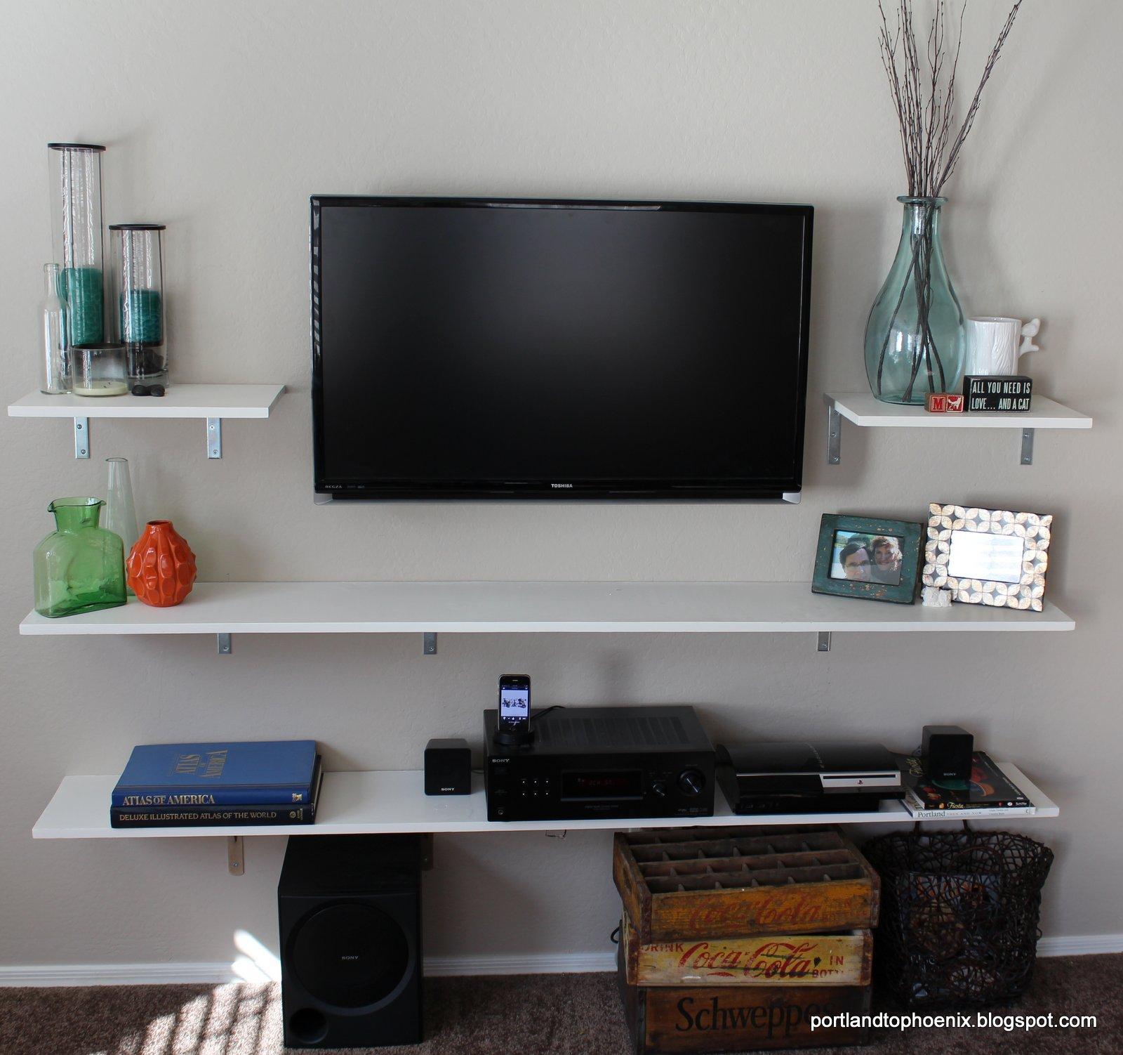 Pdx to phx diy tv shelves - Tv shelf design ...