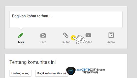 Cara mendapat Backlink dari Google Plus