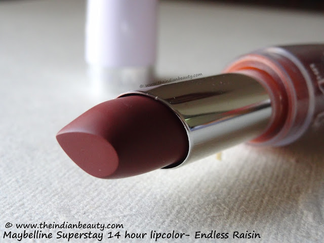maybelline superstay 14 hour lipcolor endless raisin