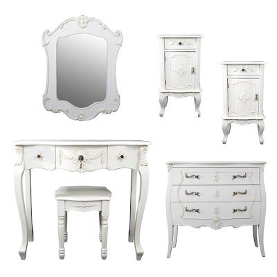 Meja Rias Putih klasik