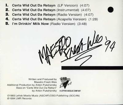 Maestro Fresh-Wes – Certs Wid Out Da Retsyn (CDM) (1994) (320 kbps)