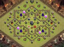 top war base for town hall 9 clash of clans best defense