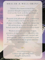 Healh and Well Being Affirmation