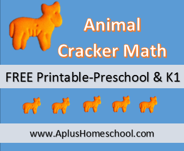 FREE Printable math sheets - Animal Cracker Math