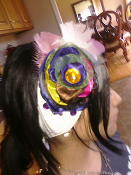 Fabric Flower/Feather  Headband