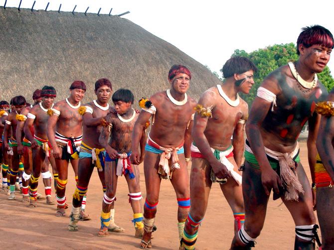 Festa Dos Kaiakurus No Parque Nacional Do Xingu  A    O Dos Villas