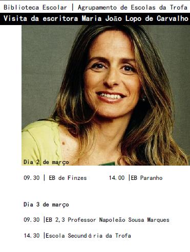 Visita da escritora Maria João Lopo de Carvalho