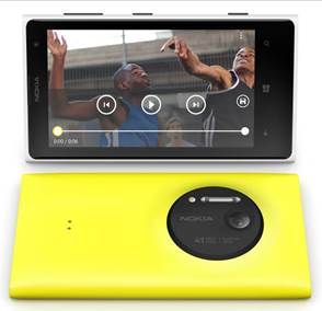 Disponibili 3 colori per il Lumia 1020, display da 4,5 pollici, processore dual core krait, 2 GB di memoria Ram