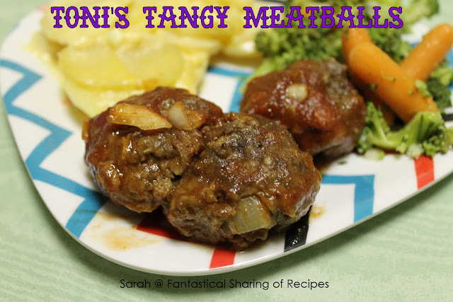 Toni's Tangy Meatballs - a great #dinner or a crowd-pleasing #appetizer!