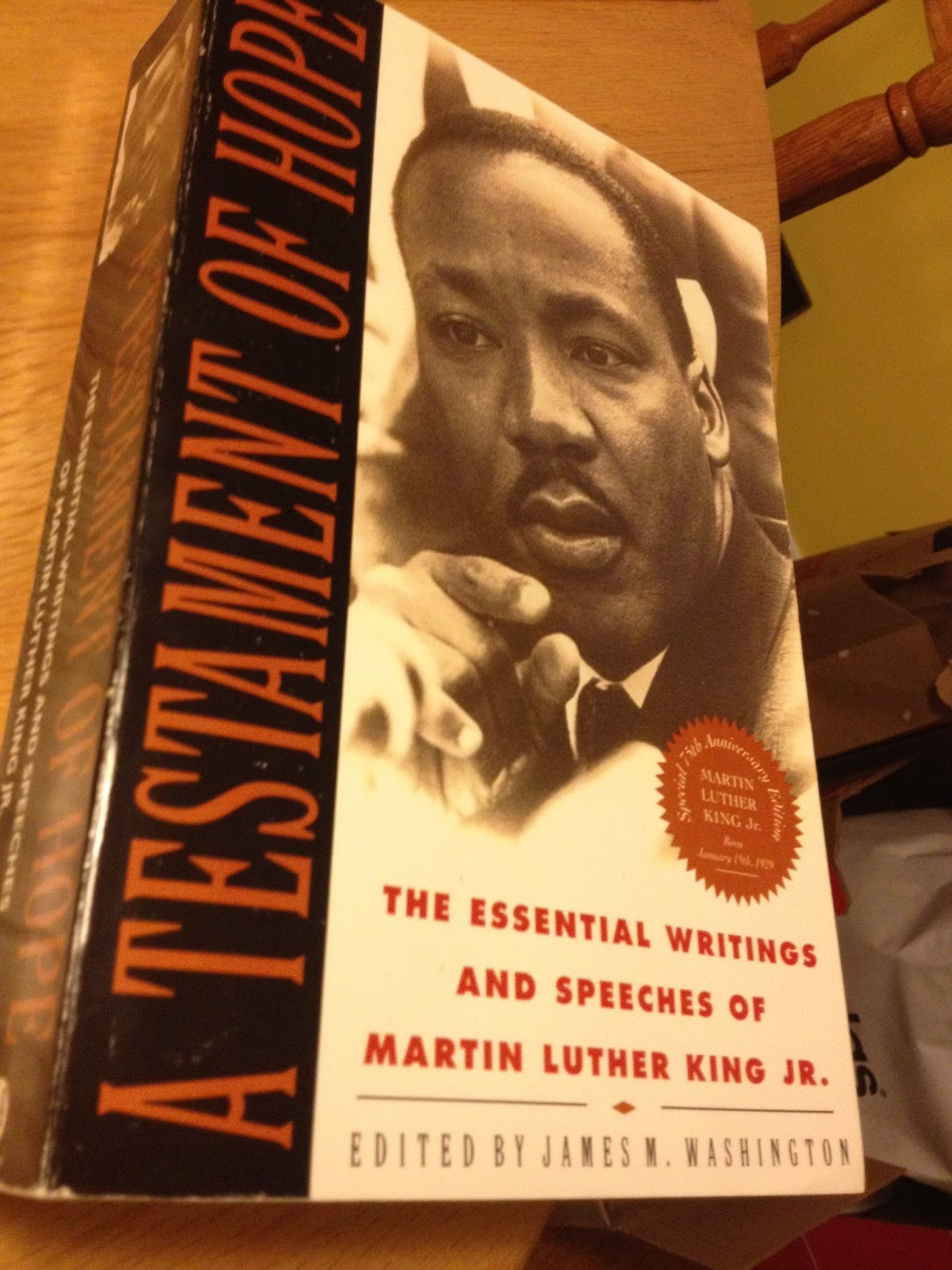 a testament of hope martin Here, in the only major one-volume collection of his writings, speeches,  interviews, and autobiographical reflections, is martin luther king jr on non- violence,.