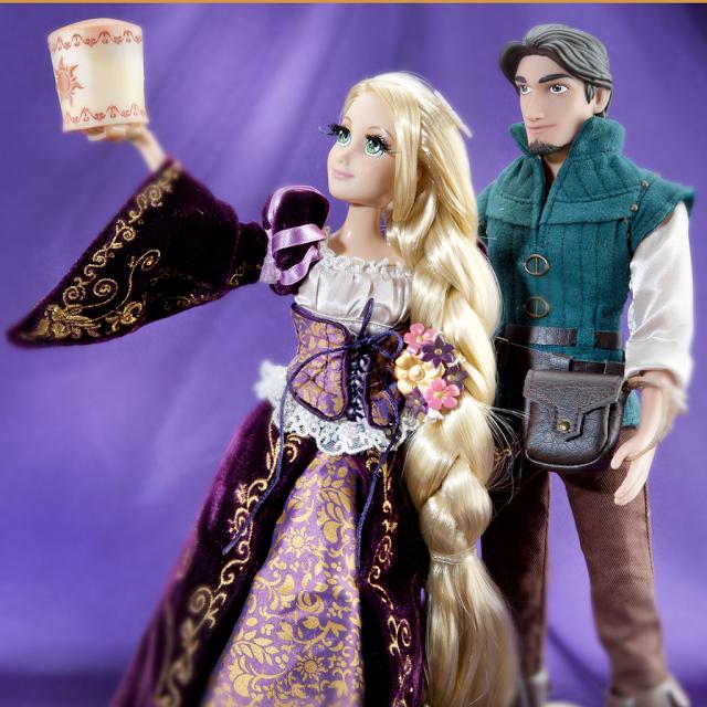 muñeca fairytale rapunzel y flynn rider