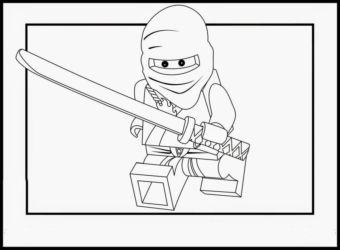 Gambar Mewarna - Lego Animation