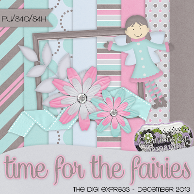 "Free scrapbook kit ""Time For The Fairies"" by Creations by Samantha"