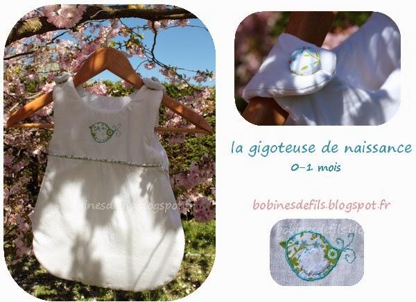 La gigoteuse de naissance / bobinesdefils.blogspot.fr