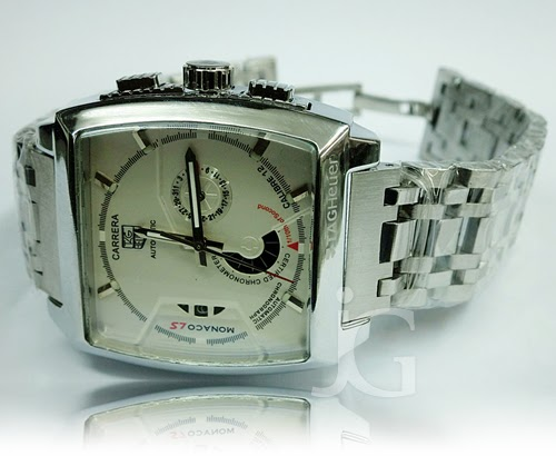 TAG HEUER CARRERA MONACO LS CALIBRE 12 STAINLESS Rp 330000