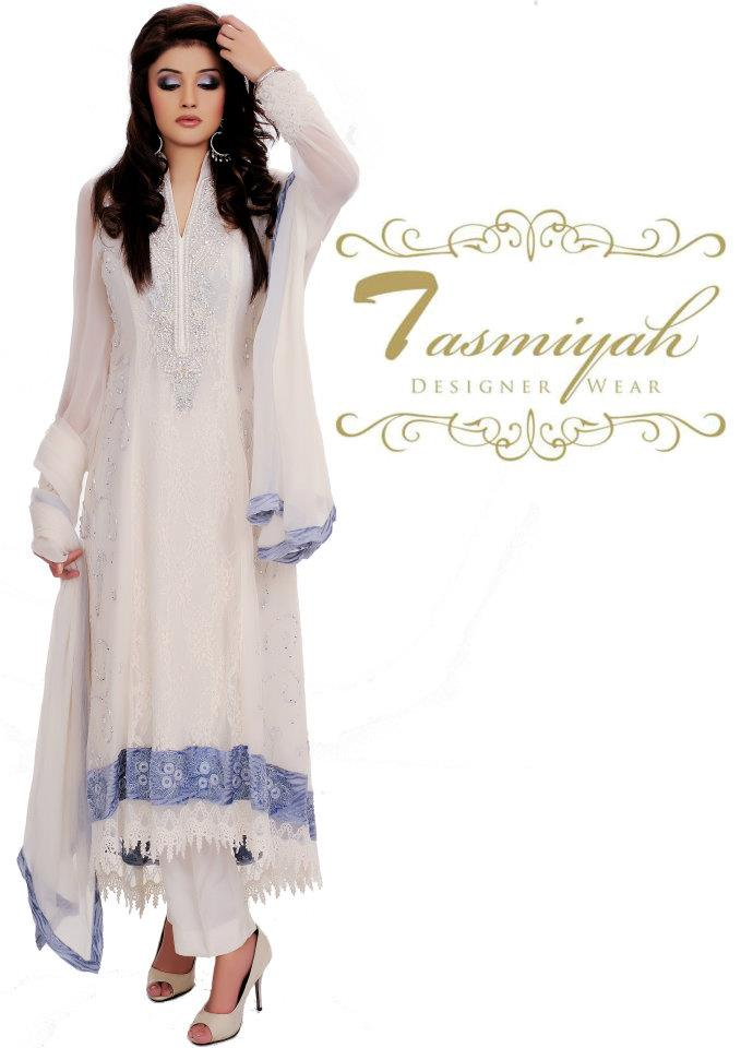 EmbroideredPishwasDresses252822529 - Tasmiyah Designer Collection Long Shirt in Pishwas