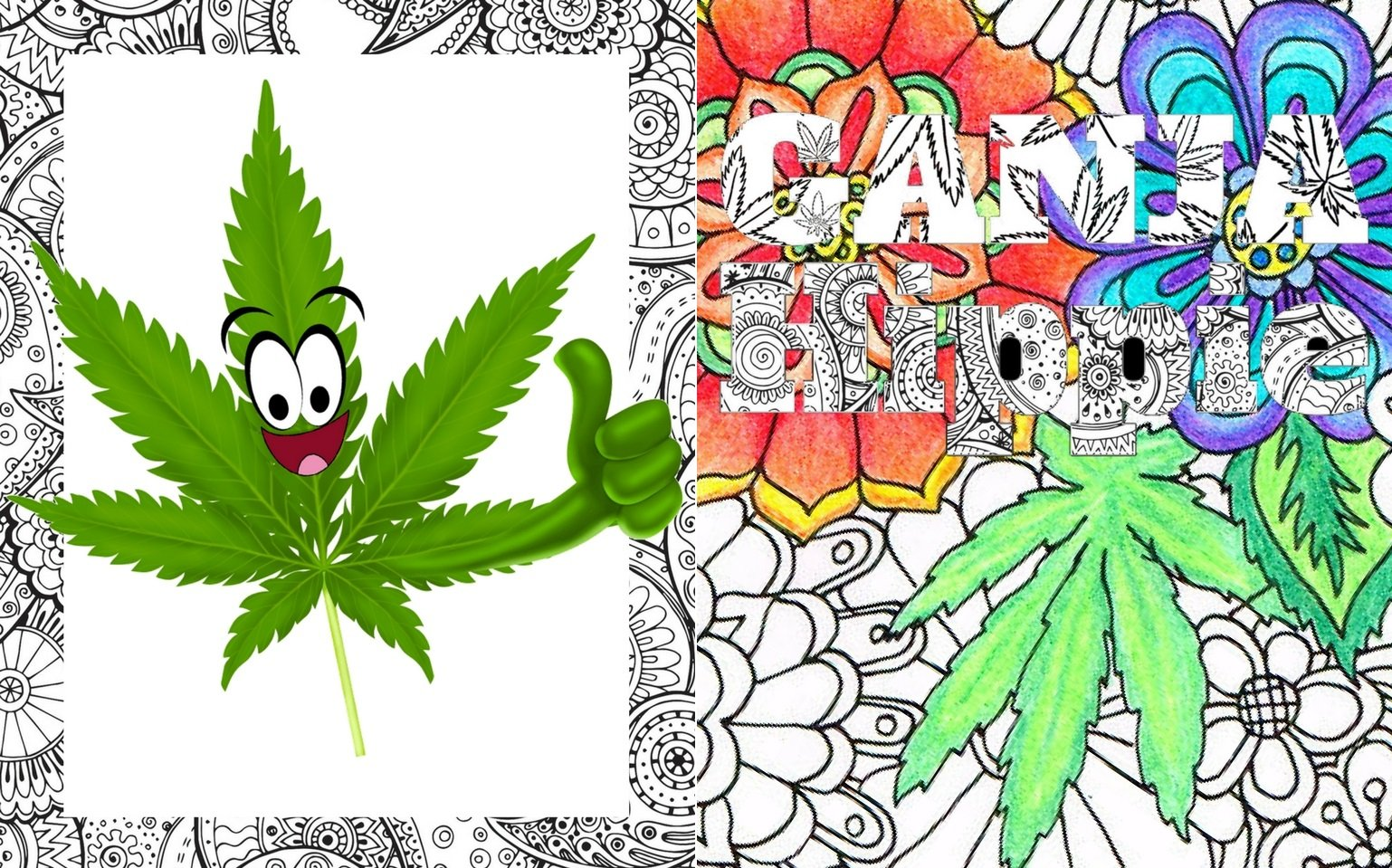 Ganja Hippie Coloring Getaway
