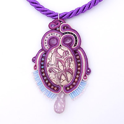 sutasz naszyjnik wisior soutache pendant necklace 19