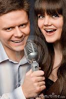 Singing couple