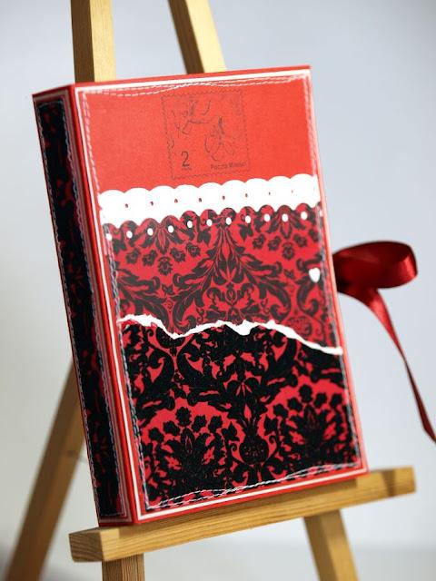 stempel z aniołkiem_milosna_walentynka_kartka książka_kartka z welurem