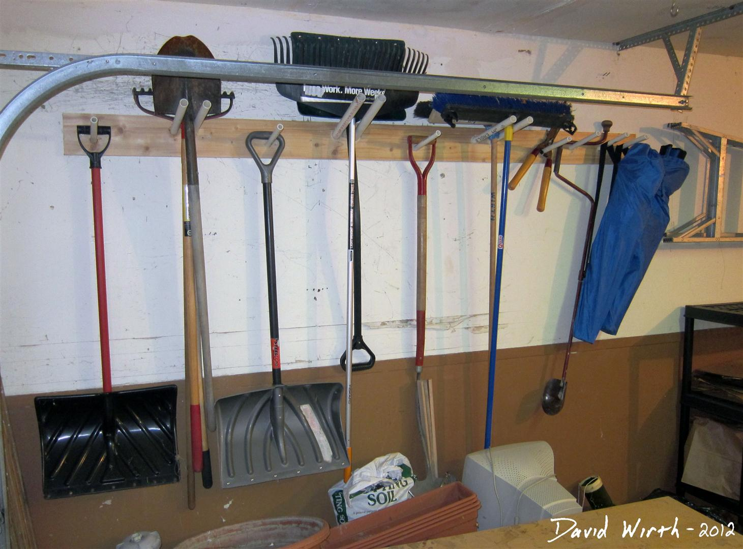 How to build a shelf for the garage garage shelf tool rack garden tools hang on wall shovel snow amipublicfo Choice Image