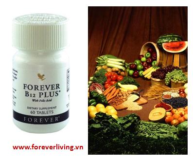 Forever B12 Plus bổ sung Vitamin B12 và acid Folic