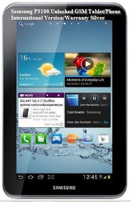 Samsung P3100 Unlocked GSM Tablet/Phone International Version/Warranty Silver