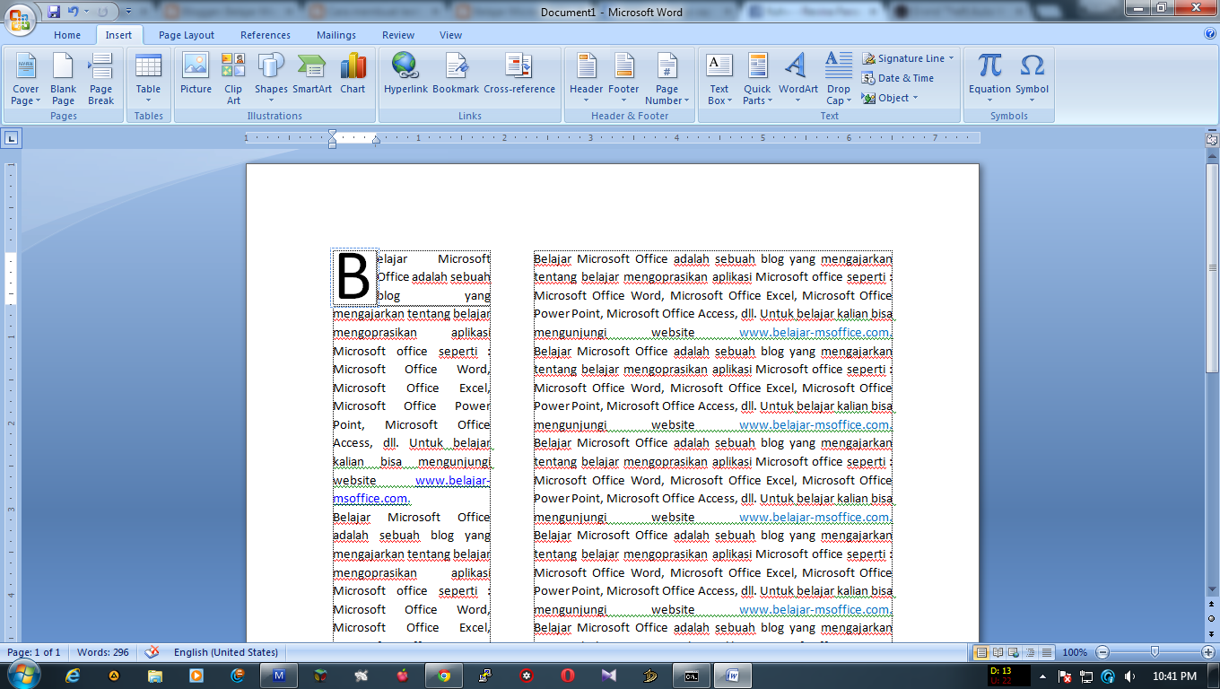 Cara Membuat Drop Cap di Ms Word