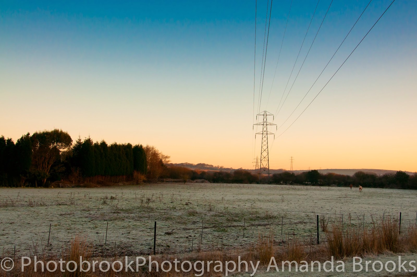 Frosty sunrise looking towards goss moor