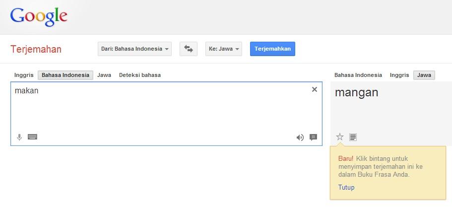 Update Terbaru Google Translate Bahasa Jawa To Indonesia