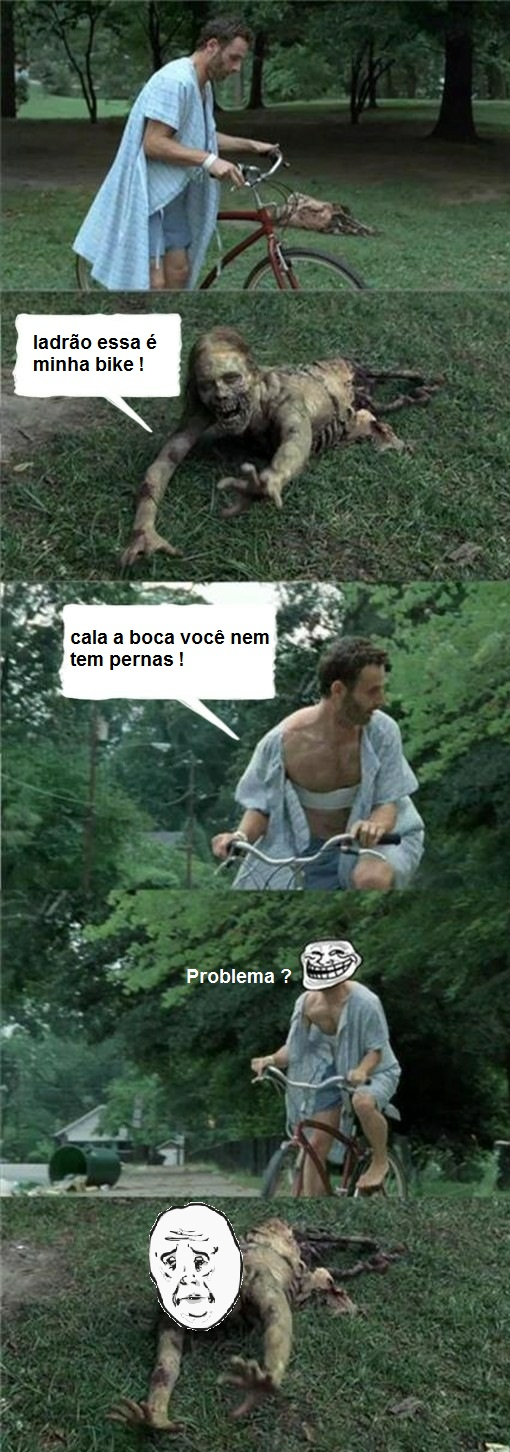 TIRINHA - The Walking Dead - Rick , O Ladrao de Bicicletas