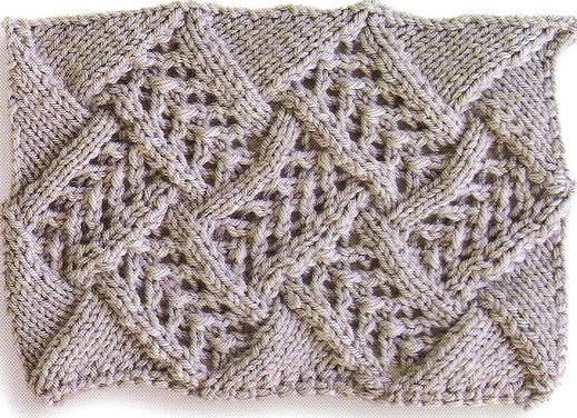 Knitting Patterns Free: Entrelac Knitting Pattern #8: Little Arrowhead Lace