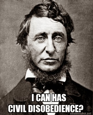 in the essay civil disobedience thoreau explains that he was put in jail for Henry david thoreau was put in jail because he didn't want to pay taxes out of protest against slavery he was allowed to do so at first, but when he publicly stood against the invasion of mexico, he was arrested.