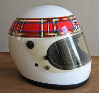 "Il casco ""kilt"" di Jackie Stewart"