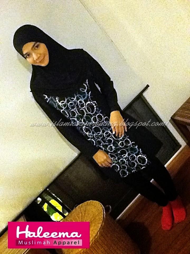 Diana Amir memakai Baju Renang Haleema untuk Rancangan TV AlHijrah Destinasi Cuti-Cuti Malaysia