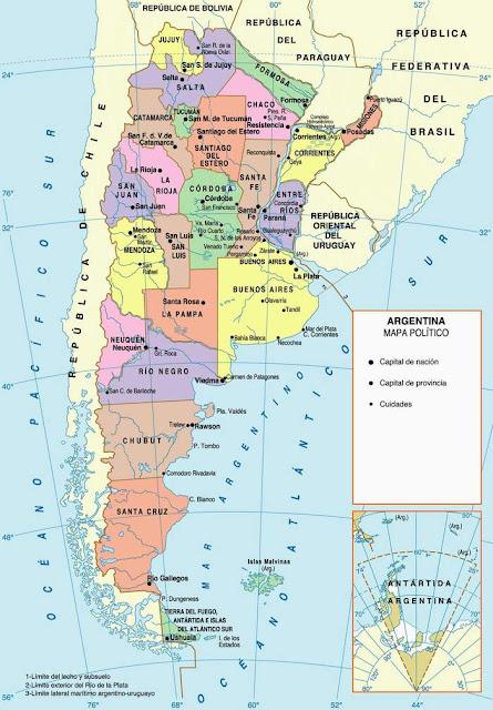 Mapa Argentina Político