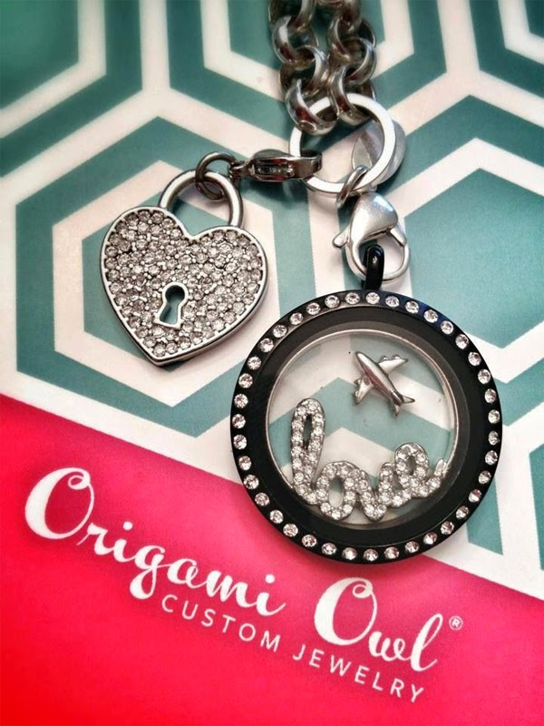 I Love Travel Origami Owl Living Locket available at StoriedCharms.com