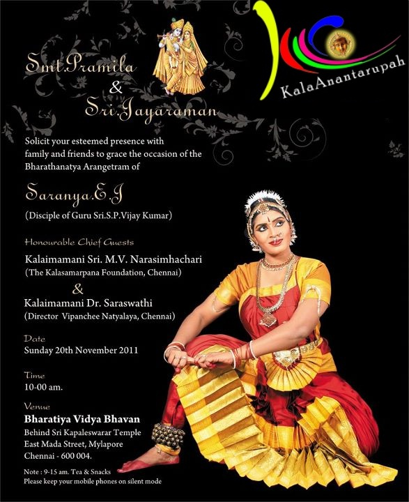 Arangetram Invitation Card Designs