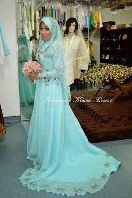 25 Contoh Model Baju Pengantin Muslim Warna Biru - Kumpulan Model Baju ...
