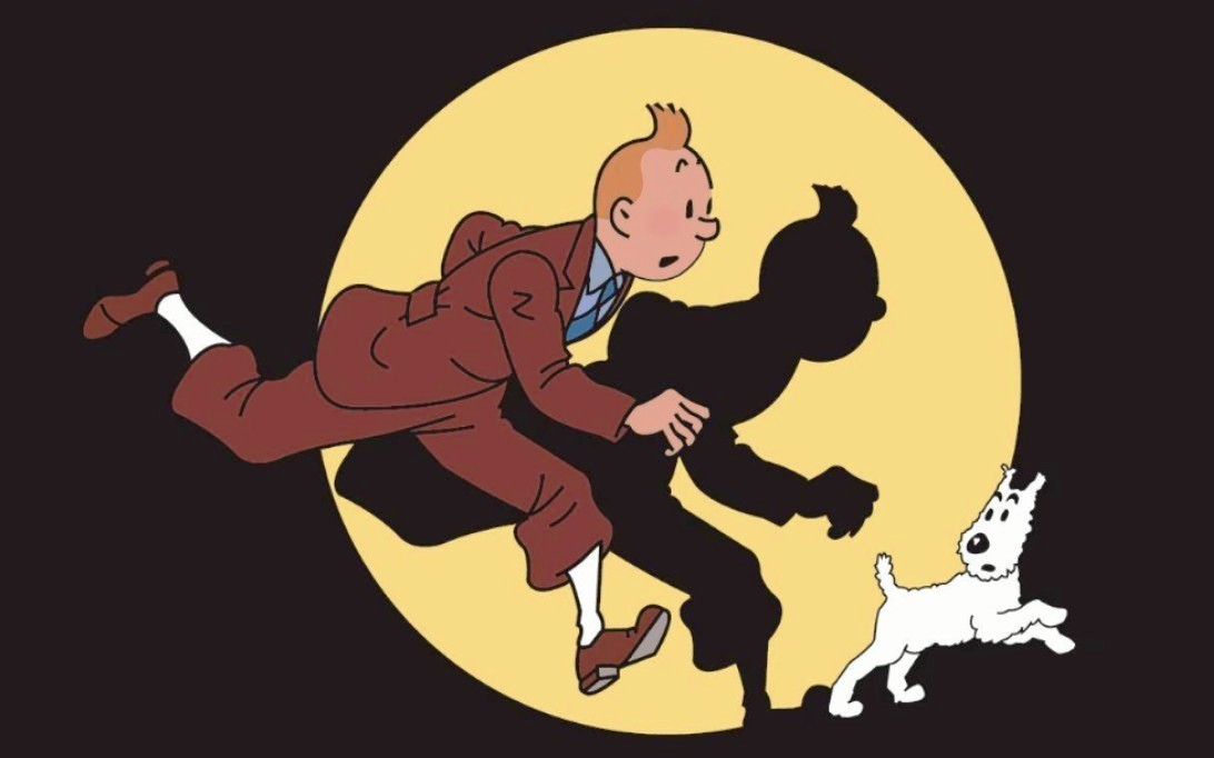 Tintin and Snowy cartoon picture 1
