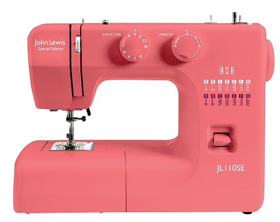 Pink JL110 Sewing Machine from John Lewis