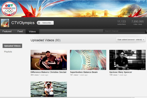 CTV olmypics youtube
